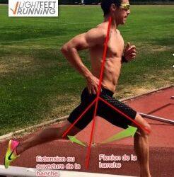 Un défaut à éviter: l'extension complète de la jambe