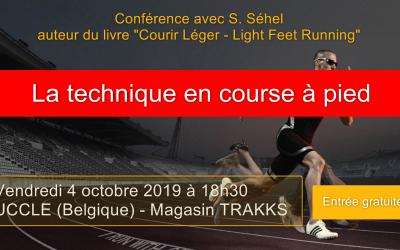 4 octobre : Conférence gratuite sur la technique en course à pied à UCCLE (magasin TRAKKS). Renseignements: www.trakks.be